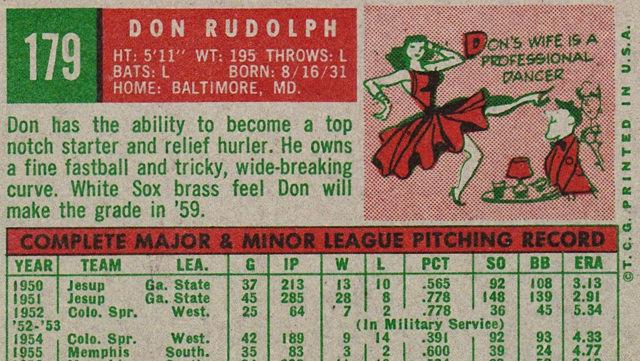 Don Rudolph's Card