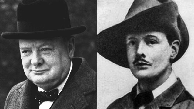 Winston Churchill: Clean Shaven And With A Debonaire Mustache