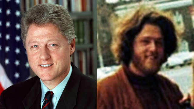 Bill Clinton: Clean Shaven And With A Shaggy Beard