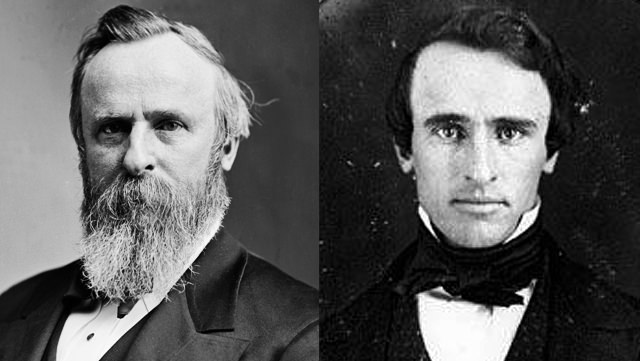Rutherford B. Hayes: With His Giant Beard And Clean Shaven