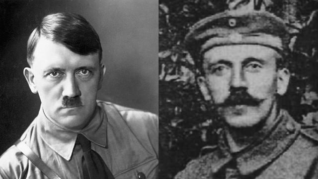 Adolph Hitler: With His Short Mustache And A Longer One