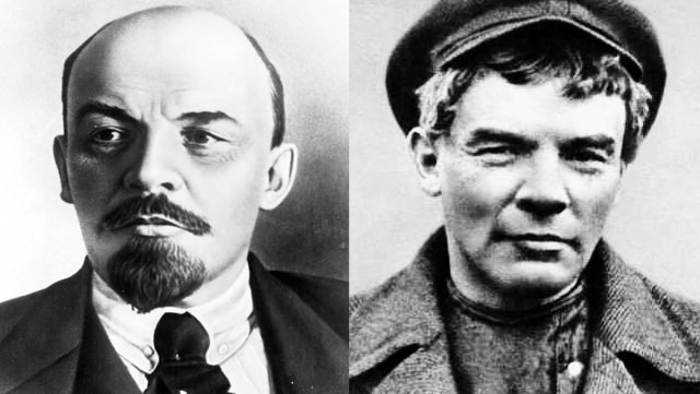 Vladimir Lenin: With Goatee And Mustache And Clean Shaven