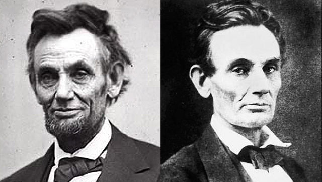 Abraham Lincoln: With And Without His Beard
