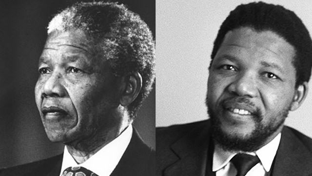Nelson Mandela: Clean Shaven And With A Mustache