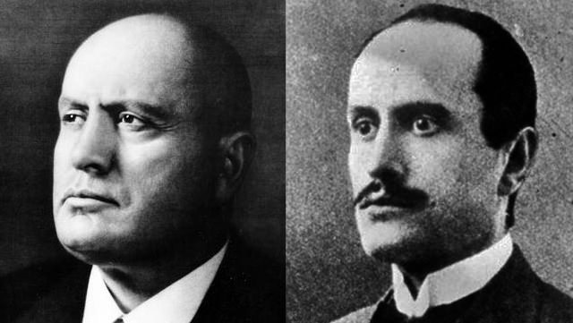 Benito Mussolini: Clean Shaven And With A Mustache