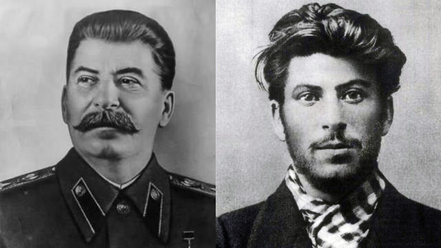 Joseph Stalin: With And Without His Mustache