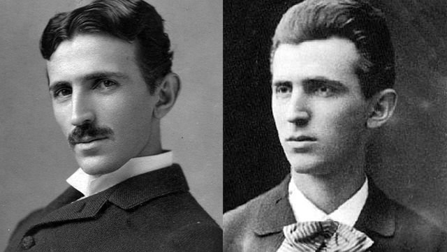 Nikola Tesla: With His Mustache And Clean Shaven