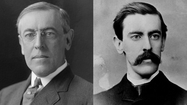 Woodrow Wilson: Clean Shaven And With A Giant Mustache