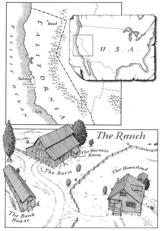 Fantastic Maps Of Literary Fiction That Look Like Fantasy Book  Map Of California In Of Mice And Men By John Steinbeck