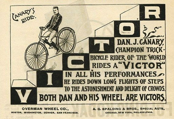 Canary Ad For Victor Bikes