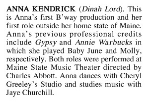 Anna Kendrick's First Playbill