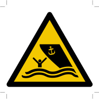 Warning; Boating area