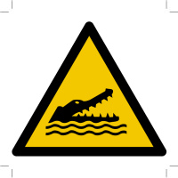 Warning; Crocodiles, alligators