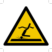 Warning; Shallow water (diving)