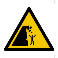 Warning; Unstable cliff