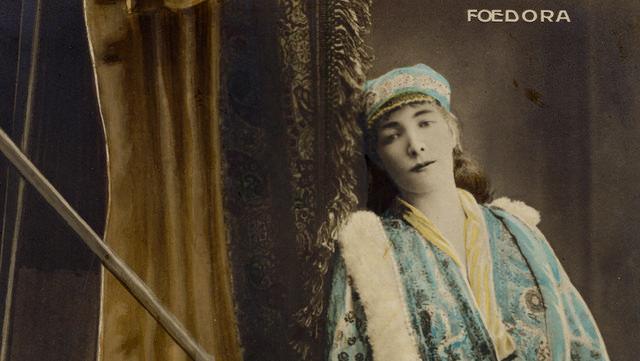 Sarah Bernhard in Fedora