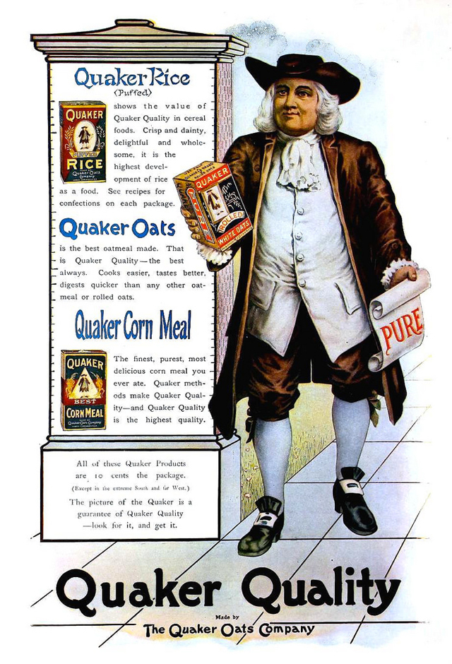 Brown Quaker Oats Guy