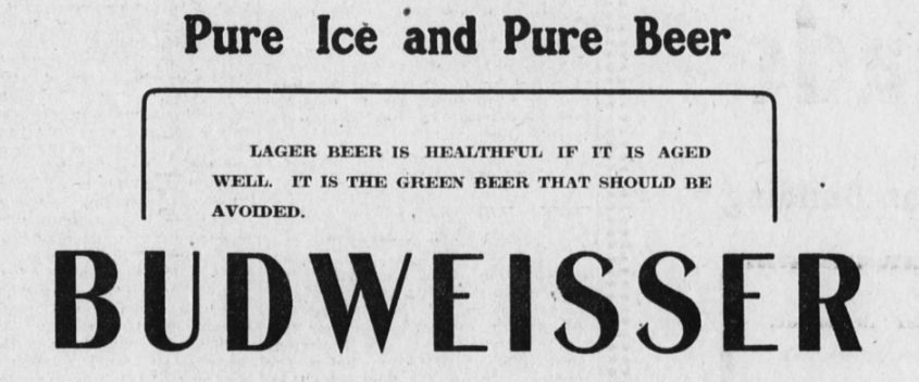 Budweiser Ad against green beer