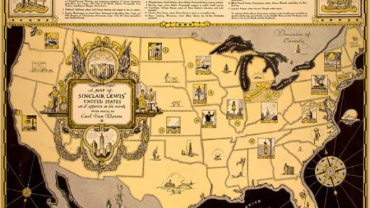 Sinclair Lewis's Map of Winnemac