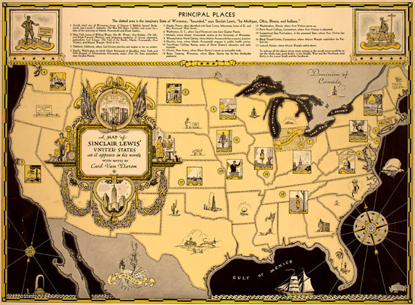 Sinclair Lewis's Map of Winnemac