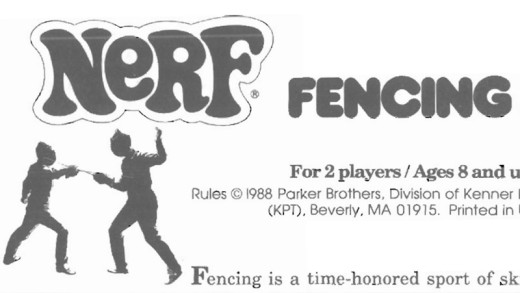Nerf Fencing