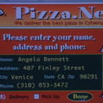 Pizza.net's introduction in The Net