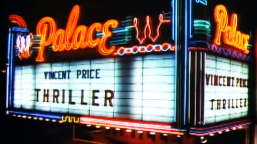 Vincent Price's Banner in Thriller