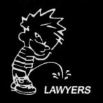 Calvin pees on lawyers