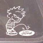 Calvin pees on Ford