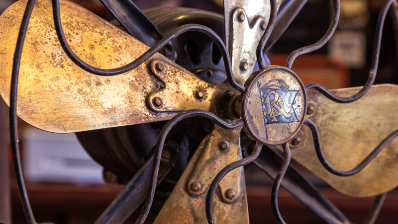 An old fashioned fan