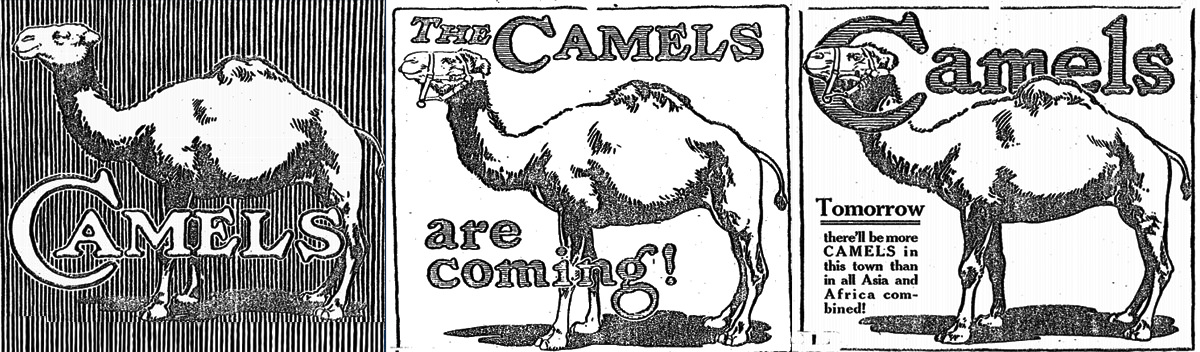 Ads for The Camels Are Coming