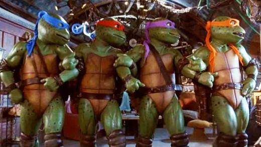 The original TMNT costumes