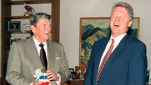 Reagan and Clinton