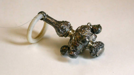 Silver teething ring